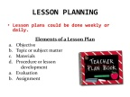 History and Government:What are the elements of a good lesson plan?