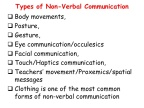ECT 300 EDUCATIONAL TECHNOLOGY: What are some of the sources of non-verbal signs?